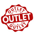 outlet sign or stamp vector image vector image