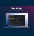 pascal programming language vector image vector image