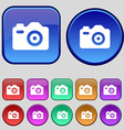 Photo Camera icon sign A set of twelve vintage vector image