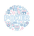 poker round creative outline vector image