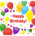 poster happy birthday multicolored balloons and vector image