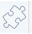 puzzle piece sign navy line icon