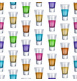 realistic detailed 3d shot glasses seamless vector image vector image