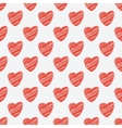 red hearts seamless pattern vector image