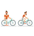 ride bicycle geek hipster ycling travel lifestyle vector image vector image