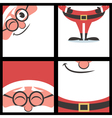 Santa Square Banners vector image vector image