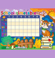 school timetable composition 4 vector image