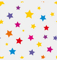 seamless background with colored stars vector image vector image