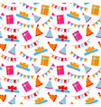 seamless pattern birthday elements birthday vector image vector image