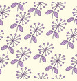 seamless purple flower pattern vector image vector image