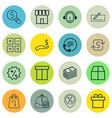 set of 16 commerce icons includes calculation vector image vector image