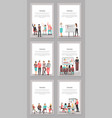 set of business meeting icons vector image vector image