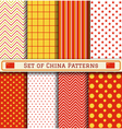 Set of China Independence day patterns vector image vector image