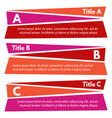 set of three horizontal colorful options banners vector image