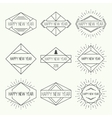 Set of vintage hipster banners vector image