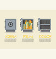 set security metal safe infographic vector image vector image