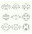 set vintage hipster banners vector image