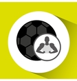 silhouette man showing muscle with ball soccer vector image