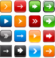 Square color arrow icons vector image vector image