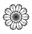 top view calendula icon simple style vector image