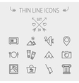 Travel thin line icon set vector image vector image