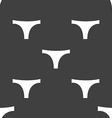 Underwear icon sign Seamless pattern on a gray vector image