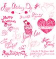 valentine day calligr 5 380 vector image vector image
