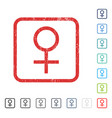 venus female symbol icon rubber watermark vector image