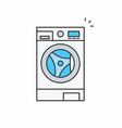 washer icon vector image vector image