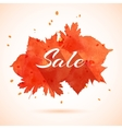 watercolor banner of autumn leaves vector image vector image