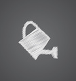 watering can sketch logo doodle icon vector image