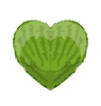 Watermelon heart shape for your design vector image