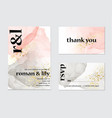 wedding invitation alcohol ink card calligraphy vector image vector image