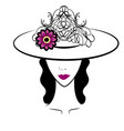 woman with hat 5 vector image vector image