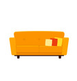 yellow couch with pillows vector image