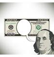 Money Speech Bubble 100 vector image
