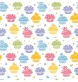 Colorful cupcake party seamless pattern background vector image