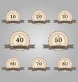 set of anniversary retro badges vector image