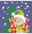 Snowman color 20 vector image