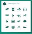 16 deliver icons vector image vector image