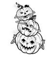 three wise halloween pumpkins