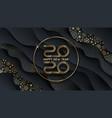 2020 new year logo greeting design vector image