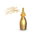 3d gold champagne bottle christmas type