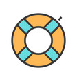 a swimming circle vector image