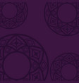 background purple mandala vector image vector image