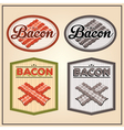 bacon meat vintage labels vector image vector image