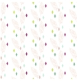 Beige boho feathers with colorful rhombs pattern vector image vector image