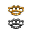 brass knuckles set vector image