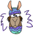 brown funny lama vector image