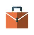 business suitcase portfolio document paper work vector image
